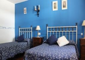 Habitación de color azul