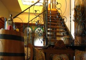 Escaleras de acceso a la planta superior