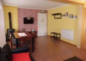 Sala de estar en tonos amarillos