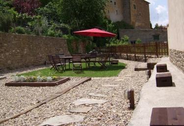 Vista completa del jardín