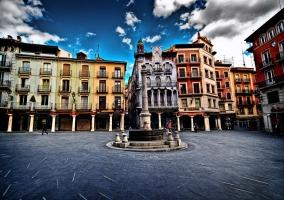 Plaza céntrica de Teruel