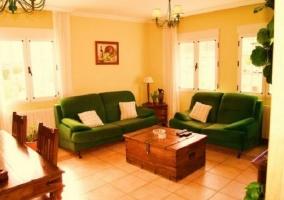 Sofás verdes
