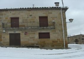 Stone facade of the Casa Rural de la Martina