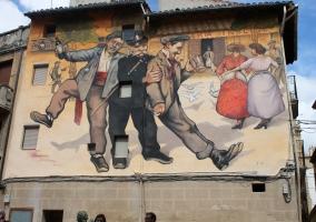 Mural en calle La Herradura