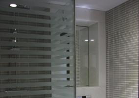 Moderna ducha en cabina