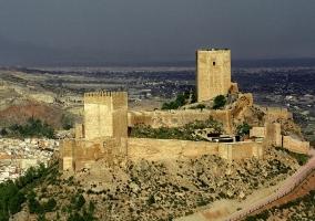 Zona centro del castillo de Lorca
