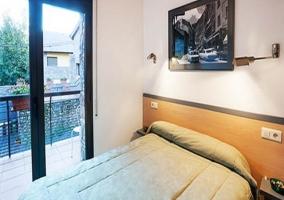 Balcón en el dormitorio