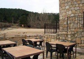 La terraza, a modo de restaurante