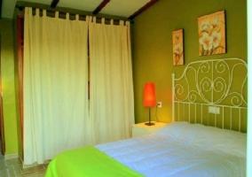 Detalle dormitorio verde