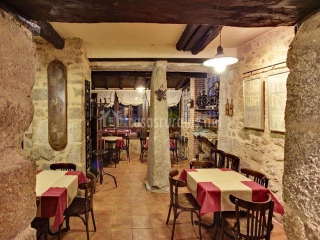 Tradicional arquitectura del restaurante