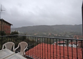 La amueblada terraza