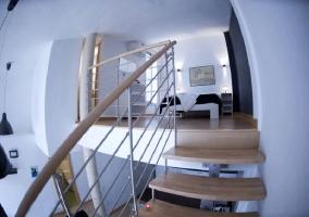 Escaleras a dormitorio