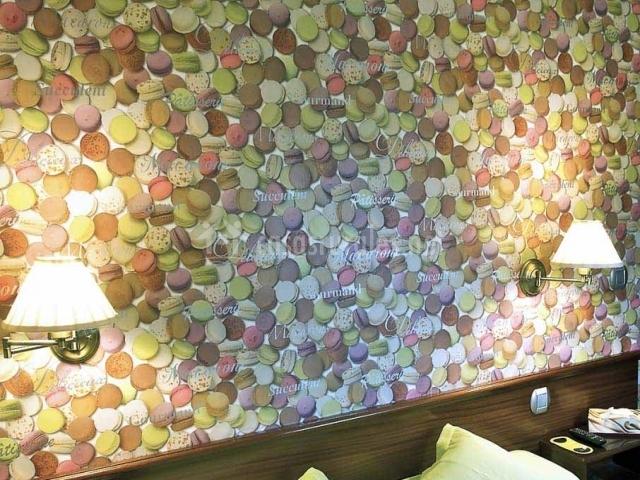 Precioso muro con estampado