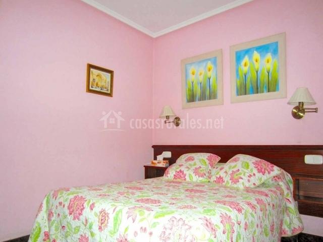 Habitación de color rosa