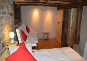 Dormitorio tres camas