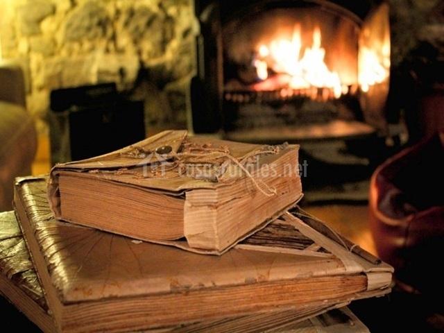 Leer en la chimenea