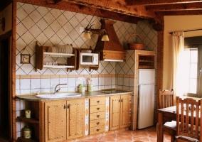 Cocina abierta en el apartamento 3