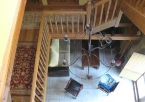 El salón desde el piso de arriba