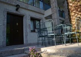Patio exterior y privado del apartamento
