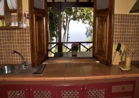 Vistas al exterior desde la cocina de la vivienda