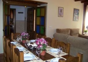Salón con comedor integrado