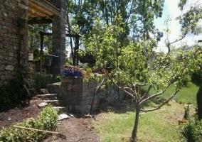 Jardín con arboles frutales