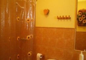Aseo de la casa con cortina de ducha