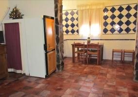 Salón con azulejos