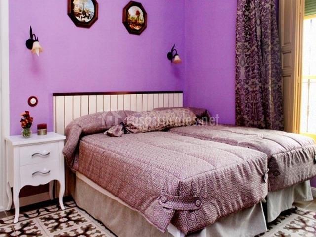 Dormitorio en lila