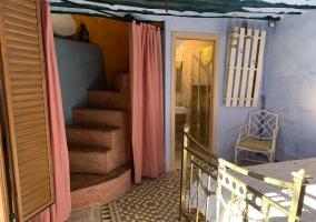 Detalles de la casa con escaleras