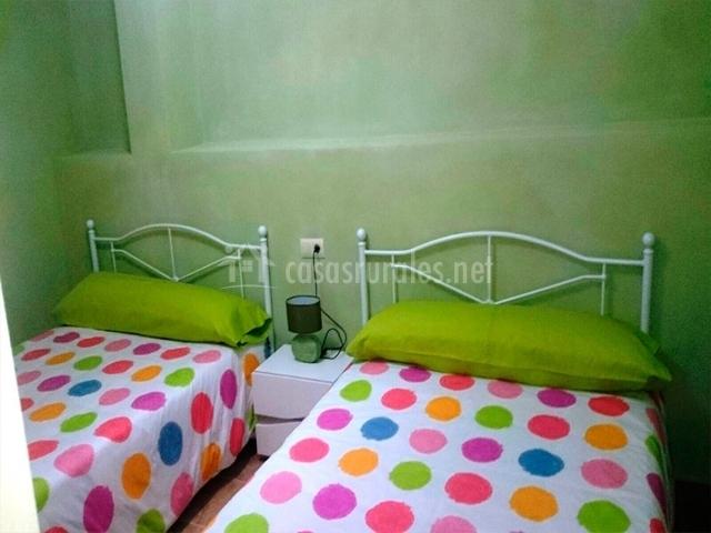 Habitación con camas de matrimonio