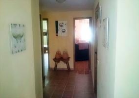 Pasillo de acceso a diferentes estancias de la vivienda