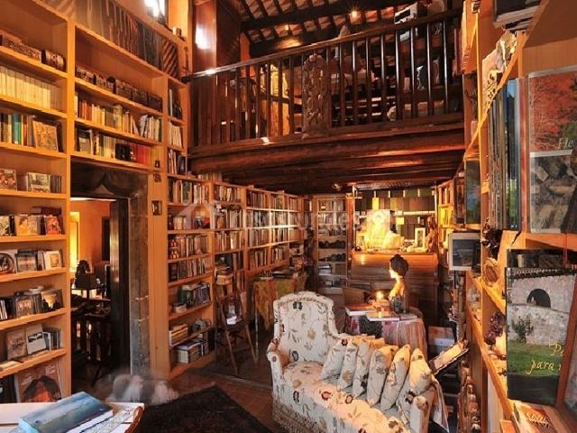 Sala de estar y biblioteca amplia