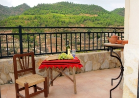 Terraza del alojamiento con bellas vistas
