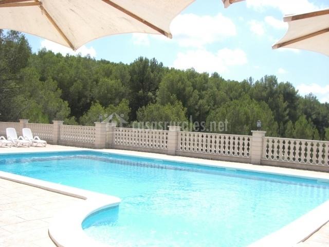 La piscina para refrescarse