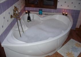 Bañera de hidromasaje con espuma