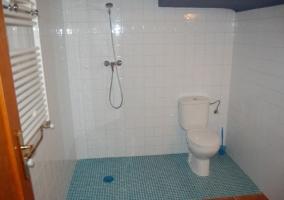 Aseo adaptado con ducha a ras de suelo