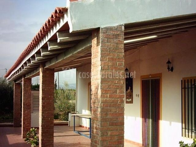 vistas del porche con columnas