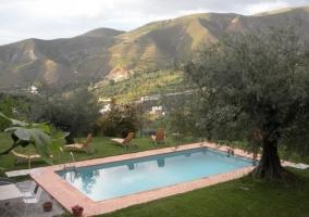 Vista del hotel desde fuera y jardines
