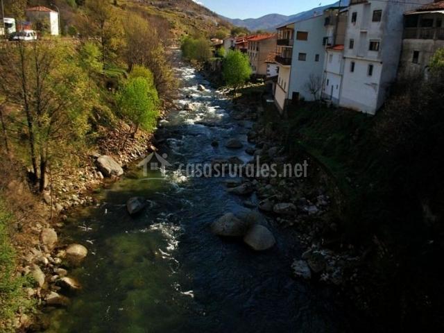 Zona de Cabezuela con paso del río Jerte