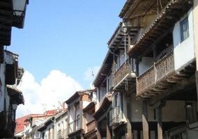 Zona centro del pueblo con arquitectura tradicional