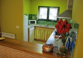 Vista sala de estar comedor y cocina