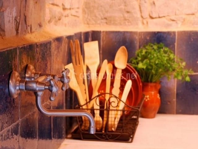 Cocina con detalles