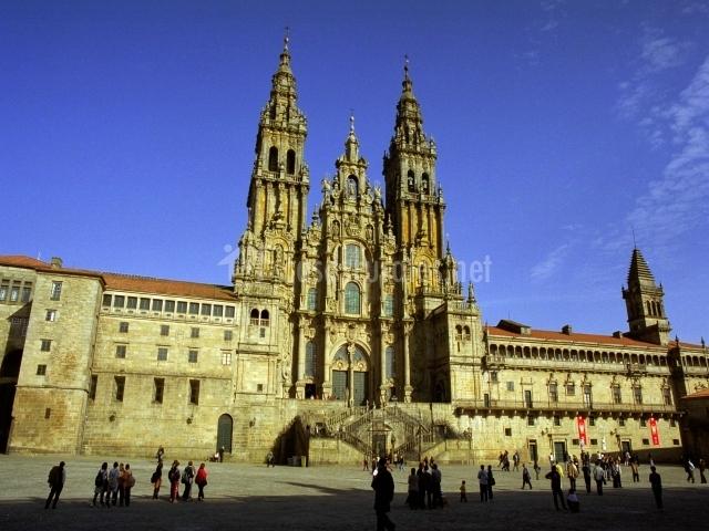 Catedral de Santiago y plaza