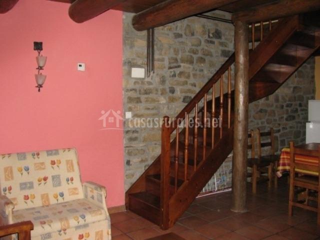 Apartamentos casa palacio 2 en torla huesca for Cocina abierta sala de estar