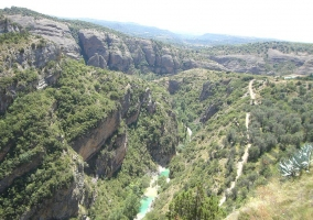 Vista del Parque Natural de la Sierra y Cañones de Guara
