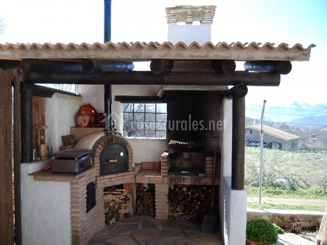Casa rural la marta en villarejo vila - Barbacoa y horno de lena ...