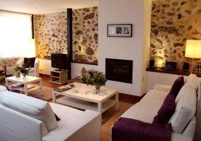 Zona de estar muy amplia con sofás