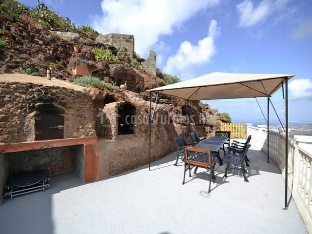 Casa cueva mirador del gallego en monta a de guia gran - Casas de madera gran canaria ...