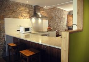 Cocina comedor de la casa rural